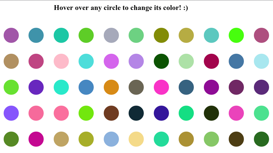 Pic of Random Color Circles App