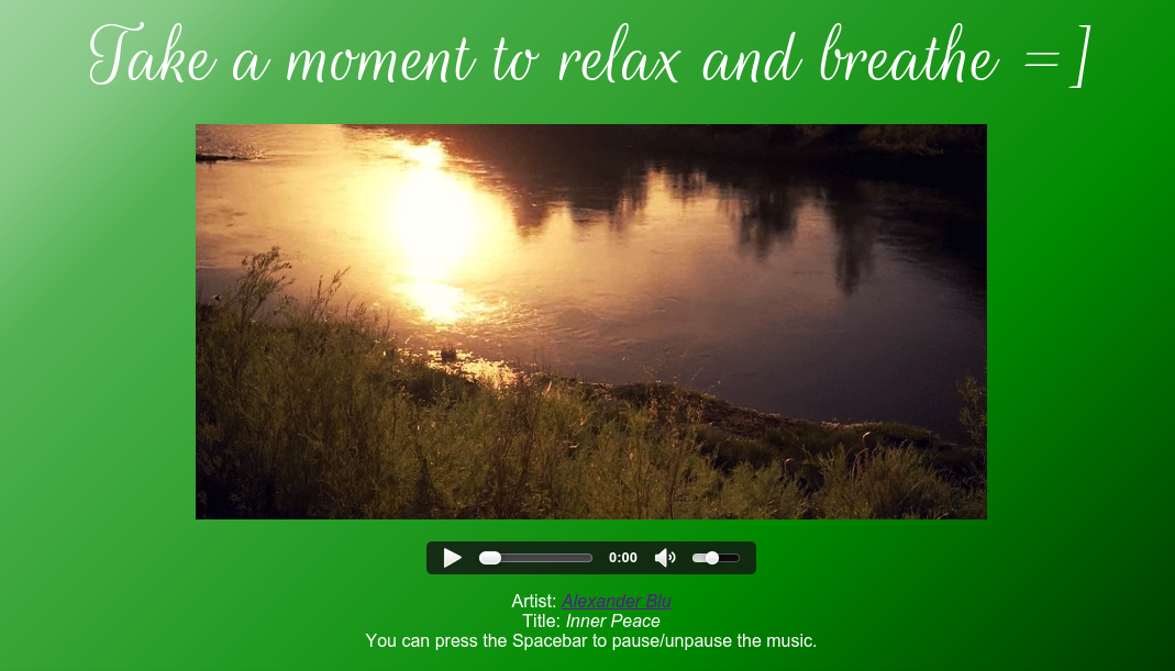 Pic of Relaxation App