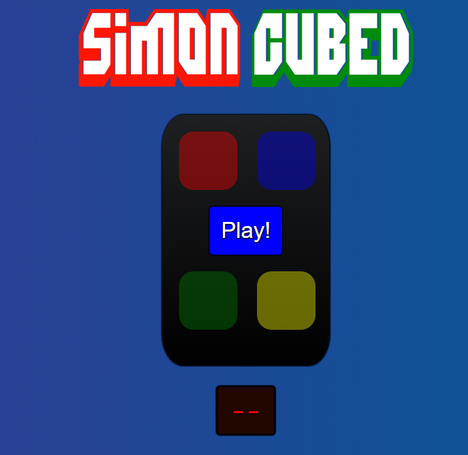 Pic of Simon Cubed Game App