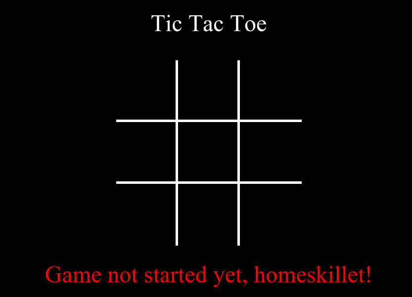 Pic of Tic Tac Toe Game App